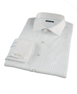 Light Blue Stripe Twill Custom Dress Shirt