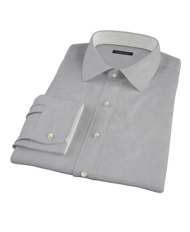 Jones Charcoal Grey End-on-End Men's Dress Shirt