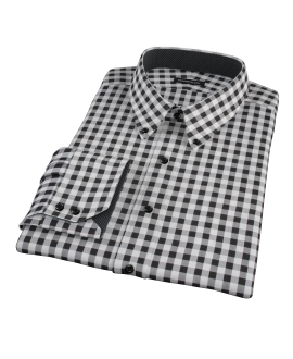 Black Large Gingham Dress Shirt
