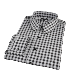 Black Large Gingham Tailor Made Shirt
