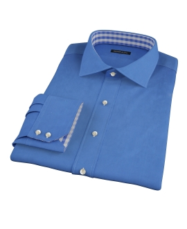 Dark Blue Broadcloth Fitted Shirt