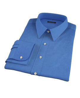 Dark Blue Broadcloth Men's Dress Shirt