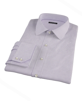Purple Grid Tailor Made Shirt