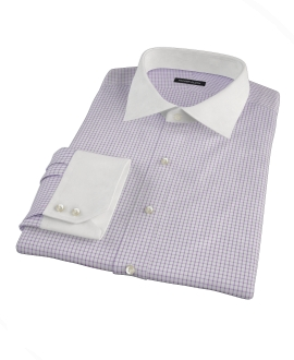 Purple Grid Dress Shirt