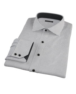 Black Grid Dress Shirt 