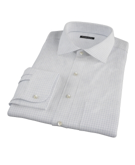 Morton Wrinkle-Resistant Navy Graph Tailor Made Shirt