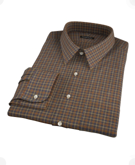 Brown Tartan Fitted Shirt