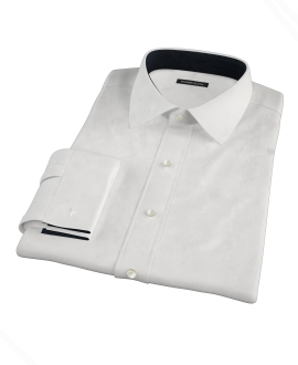 White Royal Twill Fitted Shirt