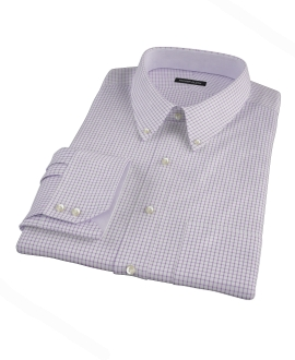 Purple Grid Custom Made Shirt 
