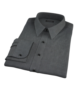 Jones Charcoal End on End Fitted Dress Shirt
