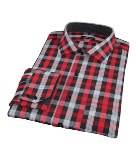 Aspen Red Plaid Dress Shirt