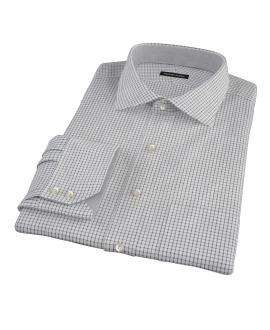 Black Grid Custom Dress Shirt 