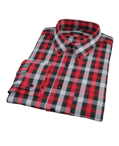 Aspen Red Plaid Custom Dress Shirt