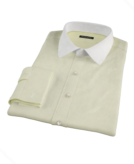 Yellow End-on-End Stripe Fitted Shirt