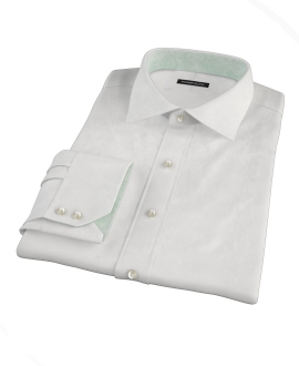 White Royal Twill Custom Dress Shirt