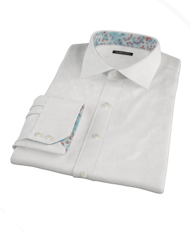 Thomas Mason 80s White Pinpoint Custom Made Shirt