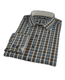 Whistler Green Plaid Fitted Dress Shirt