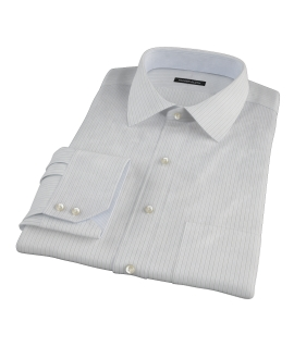Lavender and Black Fine Satin Stripe Custom Dress Shirt