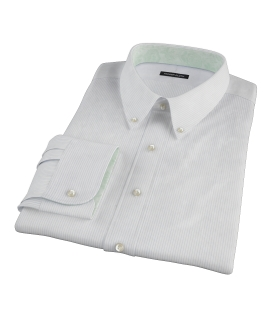 140s Light Blue Wrinkle Resistant Fine Stripe Fitted Shirt