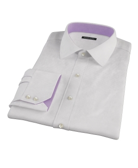 140s Lavender Wrinkle Resistant Grid Fitted Dress Shirt