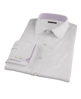 140s Lavender Wrinkle Resistant Grid Men's Dress Shirt