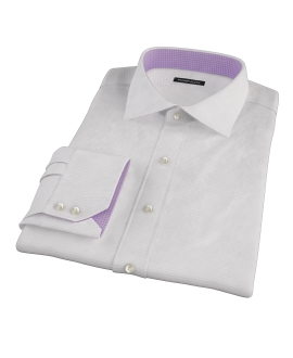 140s Lavender Wrinkle Resistant Grid Custom Dress Shirt 