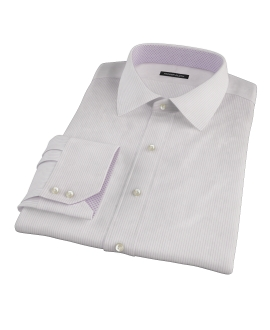 140s Lavender Wrinkle Resistant Stripe Men's Dress Shirt