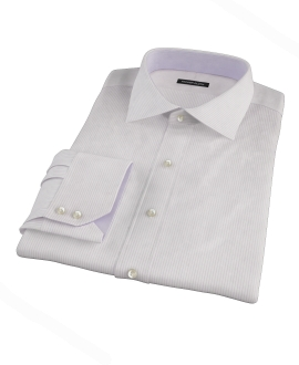 140s Lavender Wrinkle Resistant Stripe Dress Shirt 