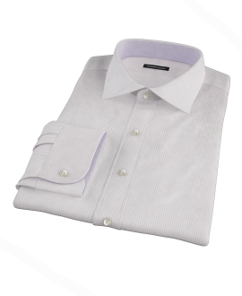 140s Lavender Wrinkle Resistant Stripe Tailor Made Shirt 