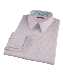 Pink Black Window Grid Custom Made Shirt