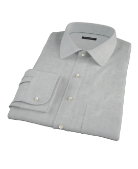 Light Gray Herringbone Fitted Dress Shirt
