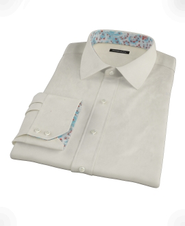 Ecru Pinpoint Tailor Made Shirt 