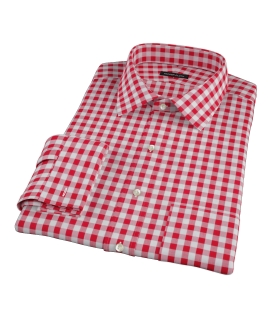 Red Large Gingham Custom Made Shirt