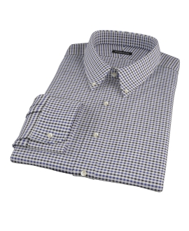 Blue and Black Gingham Twill Tailor Made Shirt