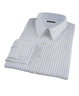 Chambers Wrinkle-Resistant Navy Light Blue Stripe Men's Dress Shirt