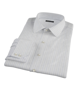 Blue and Green Stripe Custom Dress Shirt 