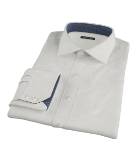 White Phantom Wide Stripe Dress Shirt