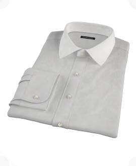 Light Gray End-on-End Custom Made Shirt