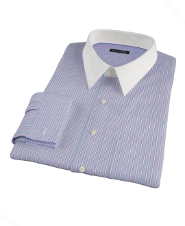 Light Blue and Pink Multi-Stripe Custom Dress Shirt 