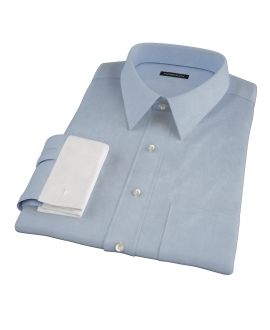 Japanese Blue Cavalry Twill Dress Shirt