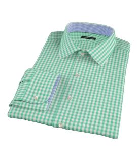 Canclini Light Green Gingham Custom Made Shirt