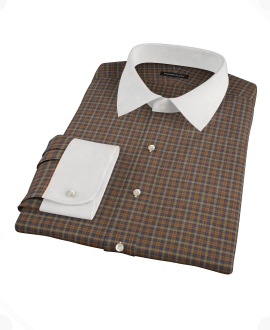 Brown Tartan Tailor Made Shirt 