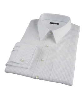 Morton Wrinkle-Resistant Navy Graph Fitted Shirt