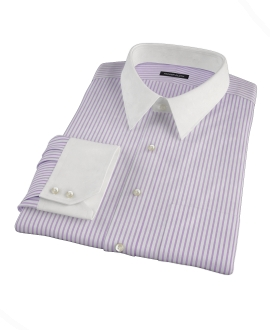 Rye Lavender Bordered Stripe Dress Shirt