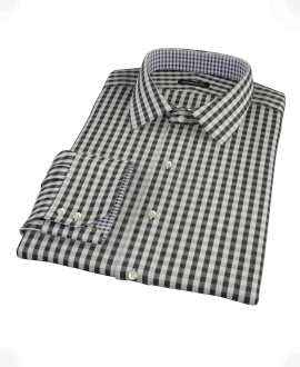 Black Classic Gingham Custom Dress Shirt