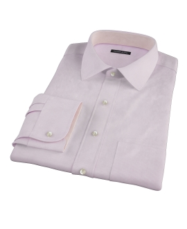 Pink Mini Grid Men's Dress Shirt