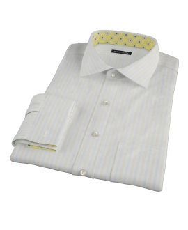 Blue and Yellow Stripe Custom Made Shirt