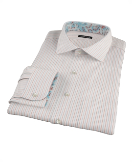 Blue and Red Stripe Custom Dress Shirt
