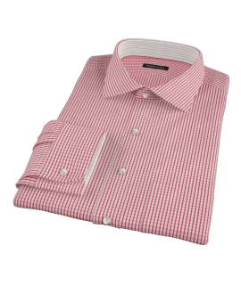 Red Medium Check Dress Shirt 