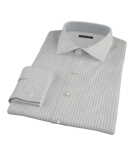 Japanese Light Blue and Gray Stripe Fitted Shirt 
